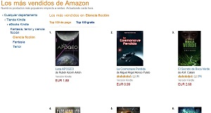 Top ventas en Amazon ciencia ficción